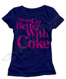 Coca Cola Navy Lady Shirt