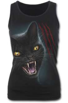 FELINE FURY - Razor Back Top Black