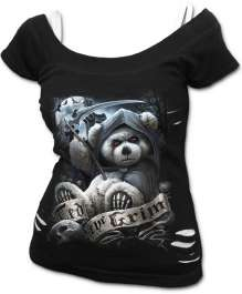 Női t-shirt TED THE GRIM - TEDDY BEAR