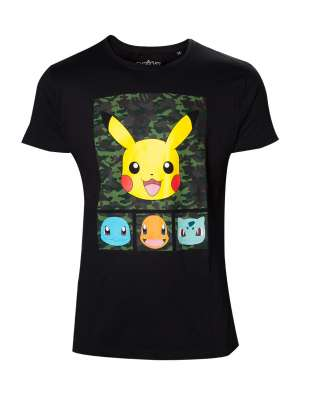 T-shirt PIKACHU AND FRIENDS CAMO