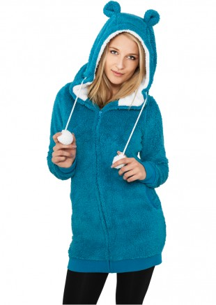 Damen-Zip-Hoody Teddy