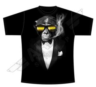 T-shirt Generic Smoking Monkey