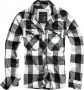 Férfi ing Check Shirt Flanell Hemd - White Diamond